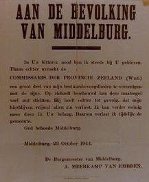 vertrek van de burgemeester A. Meerkamp van Embden