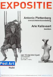 expositie van Antonio Plettenberg en Arie Kalisvaart in het voormalig postkantoo…