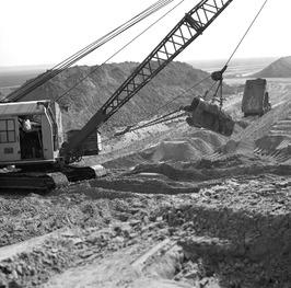 aanleg van de dam