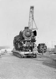 Aankomst van de uit afkomstige Duitsland stoomlocomotief. In november 1976 aange…
