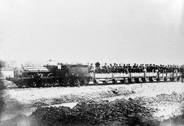 opening van de Zeeuwse spoorlijn; de leden van het Kon.Inst.voor Ingenieurs zijn…