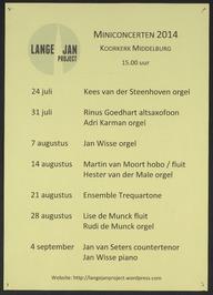 Lange Jan Project; miniconcerten