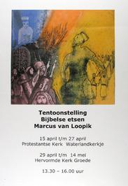 tentoonstelling Bijbelse etsen van marcus van Loopik in de Prot. kerk Waterlandk…