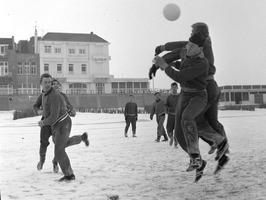 trainen in de sneeuw
