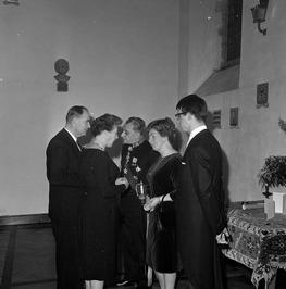 Nieuwjaarsreceptie van CdK J. van Aartsen (deerde van rechts) en zijn echtgenote…
