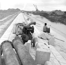 Zandkreeksluizen in aanbouw
