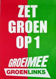 Groen Links affiche t.g.v. Provinciale statenverkiezingen maart 2006