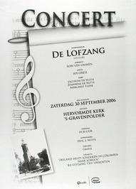 concert door mannenkoor De Lofzang in de N.H. kerk