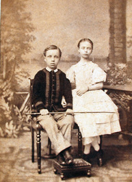 Helene Luijken met broer