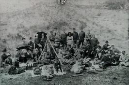 badgasten in de v.m. zandkuil van Berkenbosch
