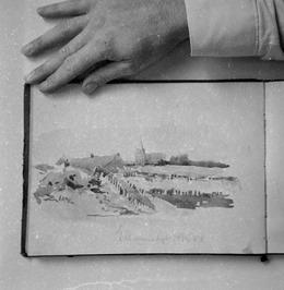 Schenking 50 schetsboekjes kunstenaars vader en zoon, J.F. Schutz en W.J. Schutz…