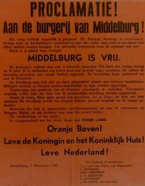 proclamatie aan de burgerij van Middelburg