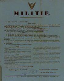 onderzoek van verlofgangers van de militie te land