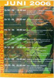 concertagenda juni van het muziekpodium Zeeland