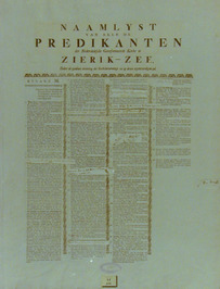 lijst van predikanten