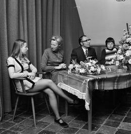 40-jarig ambtsjubileum J.J. de Reij bij de Provinciale Griffie.