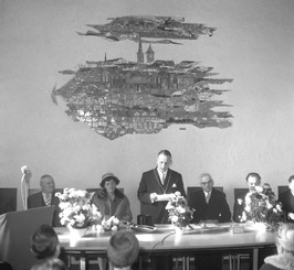 installatie van burgemeester mr. M. Somers (burgemeester van Hoedekenskerke 1960…