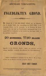 openbare verpachting van grond liggende in de Mortiere Polder en een gedeelte va…