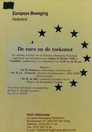 bijeenkomst met als thema: De euro en de toekomst