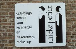 bordje opleidingscentrum Mieke Petiet