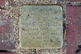 Struikelsteen voor Heintje Brokmeier - Duveen (1887-1943).