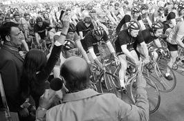 Start Tour du Flic, een initiatief van de Terneuzense Politie Sport Vereniging.