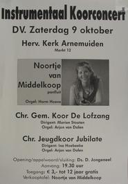 instrumentaal koorconcert met o.a. Noortje van Middelkoop en het jeugdkoor Jubil…