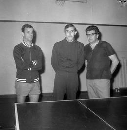 Wilno-team. Vlnr Piet Martijn, Henny van Hengst en Rinus van Breen.
