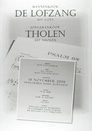 concert in de N.H. kerk door mannenkoor de Lofzang uit Goes en jongerenkoor Thol…