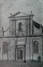 Rooms-Katholieke kerk, thans (1986) op plaats van R.K. pastorie naast bioscoop; …