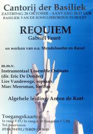 uitvoering van het Requiem door de Cantorij der Basiliek