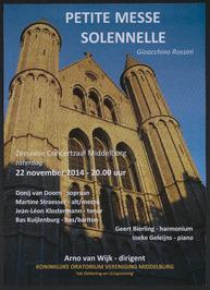 Uitvoering van Petite messe solennelle in de Zeeuwse Concertzaal door de Koninkl…