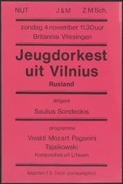Optreden Jeugdorkest uit Vilnius In hotel Britannia.