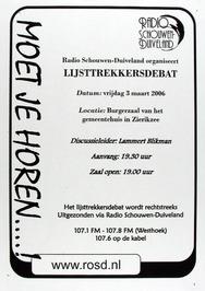 uitzending door het lijsttrekkersdebat door radio Schouwen-Duiveland