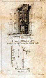 het huis te Middelburg in 1860, bewoond door Jacob Cats van 1603 tot 1623