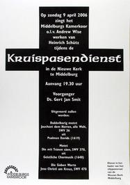 kruispasendienst in de Nieuwe kerk m.m.v. Middelburgs kamerkoor