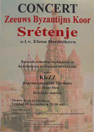 optreden van het Zeeuws Byzantijnskoor Srétenje gehouden in de Nieuwe kerk