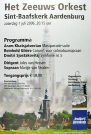 concert door het Zeeuws orkest in de Sint Baafskerk