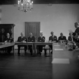 Persconferentie met Belgische ministers H. Fayat van Buitenlandse Handel (tweede…