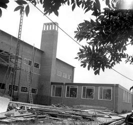 bouw van de technische school