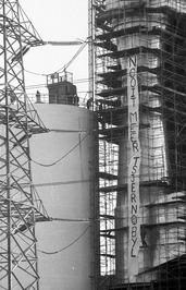 bezetting centrale, leus: Nooit meer Tsjernobyl