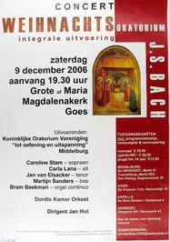 concert Weihnachtoratorium uitgevoerd oor o.a. Kon. Oratoriumver. Tot Oefening e…