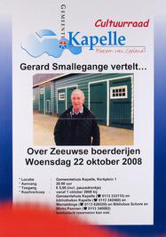 Gerard Smallegange vertelt over Zeeuwse boerderijen, in het gemeentehuis