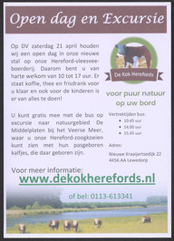 Open dag en excursie bij De Kok Herefords.