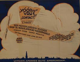 promotie affiche boek: Voor vrij? Contact! door A. Viruly, uitgever: Andries Bli…