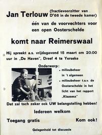 oproep tot bijeenkomst voor openhouden van de Oosterschelde met Jan Terlouw
