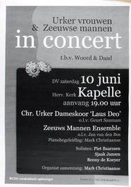 Urker vrouwen en Zeeuwse mannen in concert m.m.v. Zeeuws mannen ensemble in de N…