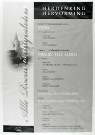 herdenking hervorming m.m.v. chr. gemengd koor VZOS en chr. gemengd koor Praise …