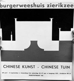aankondiging Chinese kunst in Burgerweeshuis