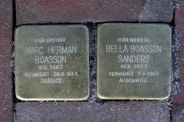 Struikelstenen voor Marc Herman Boasson (1887-1943) en Bella Boasson - Sanders (…